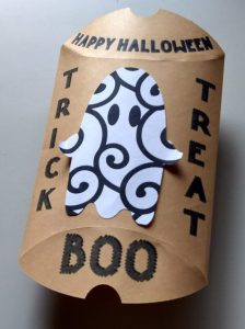 Halloween treat pillow open