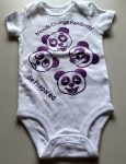 Panda Onesie using glitter vinyl in purple