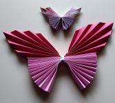 Butterflies made by Accordion Fold