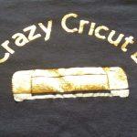 Crazy Cricut Lady Shirt using metallic HTV