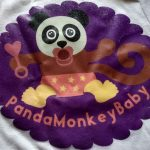 Close up of the PandaMonkeyBaby Onesie