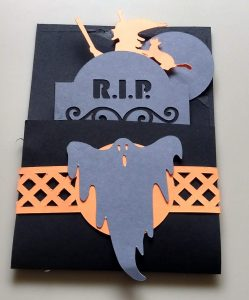 Closed Halloween Pulley Card with Card Band
