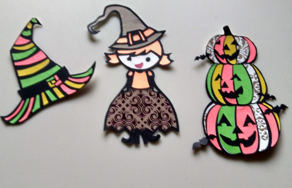 Halloween Coloring with Paper Trio