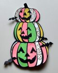 Halloween Coloring with Paper Pumpkin