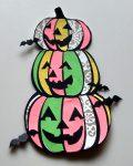 Halloween Coloring with Paper Pumpkin