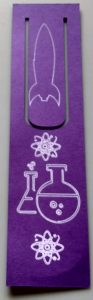 Science Themed large bookmark