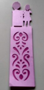 Shaped large bookmark