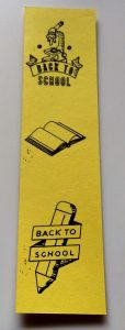 Back to School Themed Large Bookmark