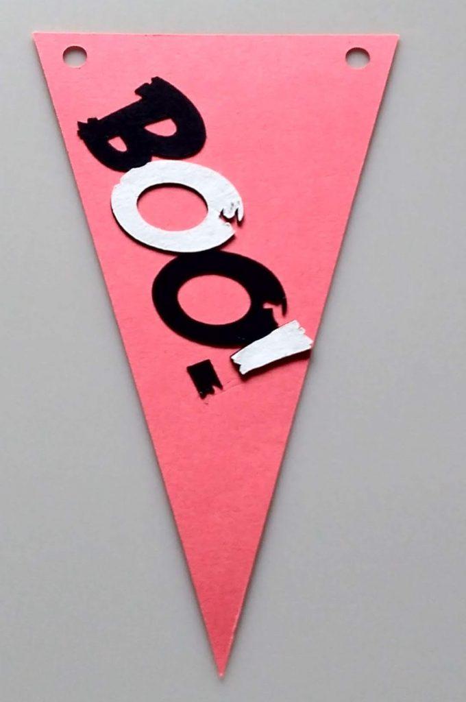 Boo Halloween Pennant Banner