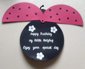 Open Lady Bug Birthday Card