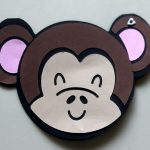 Monkey Birthday Card for boys