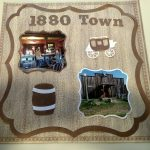 Scrapbook Page of 1880s Town