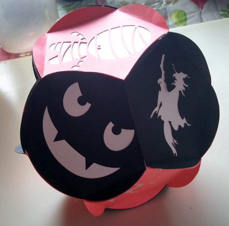 Halloween Ball made with my cricut