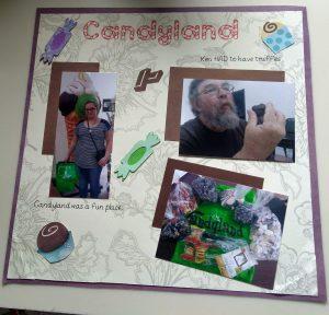 Candyland Scrapbook Page 1