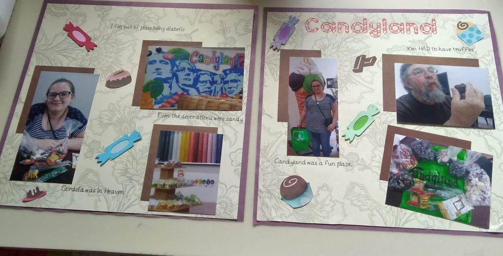 Candyland Scrapbook Page