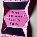 Open Halloween Monster Card