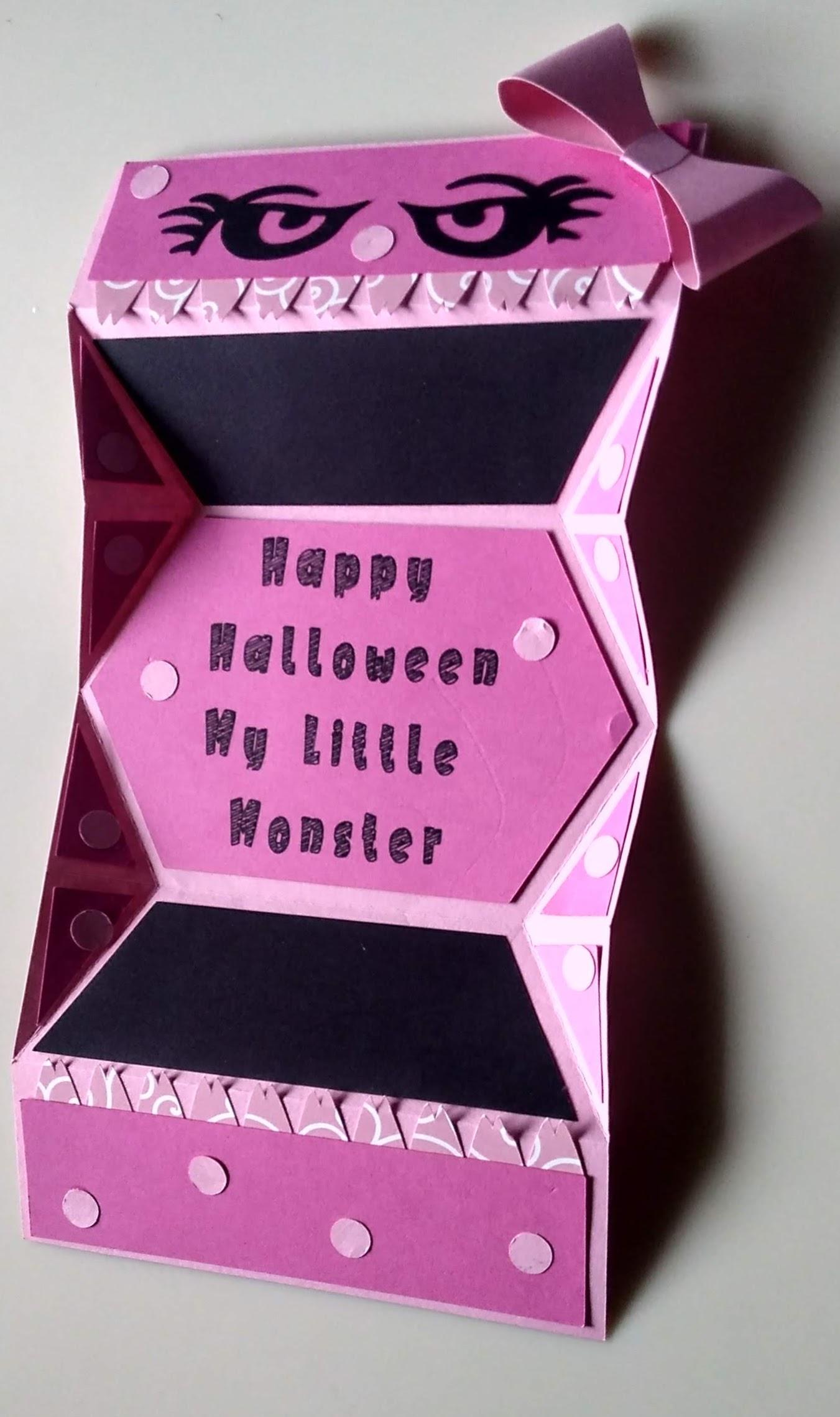 Girl Monster Halloween Card