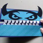 Closed Boy Monster Halloween Card