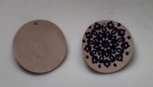 Round Faux Suede Earrings Drawn on with sharpie