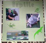 Reptile Gardens Scrapbook Page