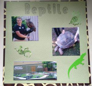 Reptile Gardens Scrapbook Page 1