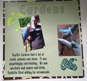 Reptile Gardens Scrapbook Page 2