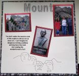 Mt Rushmore Scrapbook Page