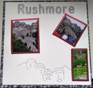 Page 2 of Mt Rushmore Scrapbook page