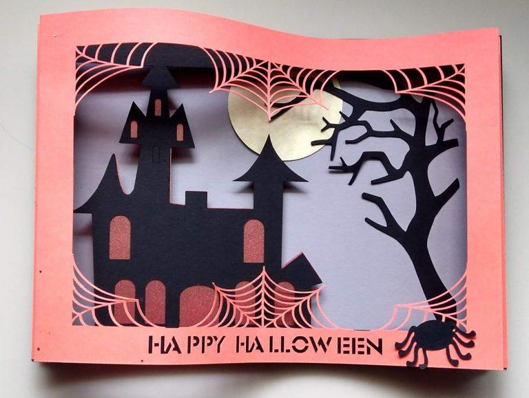 Laying Down Halloween Shadowbox Card