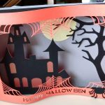 Standing up Halloween Shadowbox Card