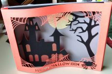 Shadowbox Card for Halloween