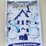 Christmas Shadowbox Scene Card