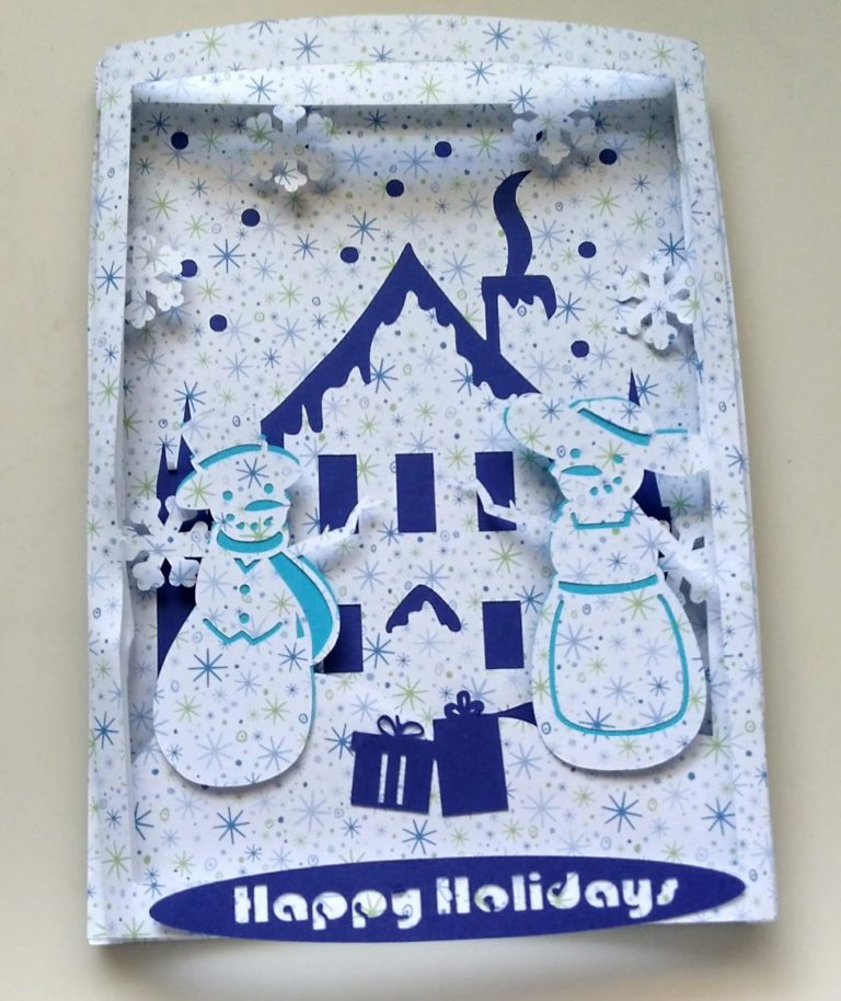 Christmas Shadowbox Scene Card