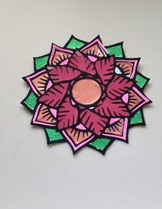 Coloring with Paper Poinsettia