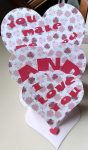 Triple Heart Easel Card