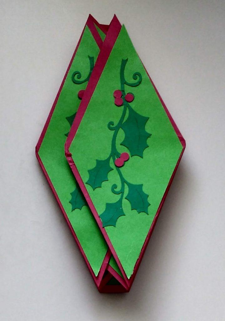 Closed Fancy Fold Christmas Card