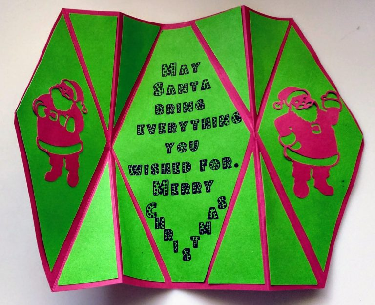 Open Fancy Fold Christmas Card