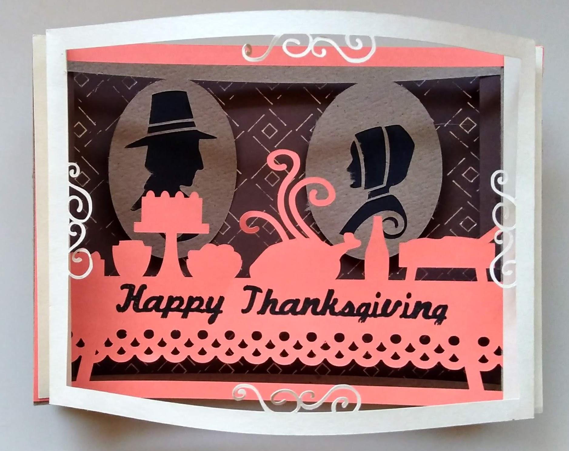 Shadowbox Thanksgiving Card