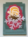 Santa Slider Easel Card with foiling