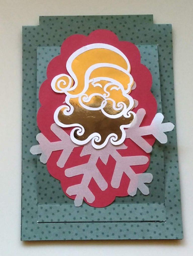 Santa Slider Easel Card with foiling