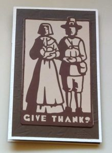 Thanksgiving Easel Card Cover