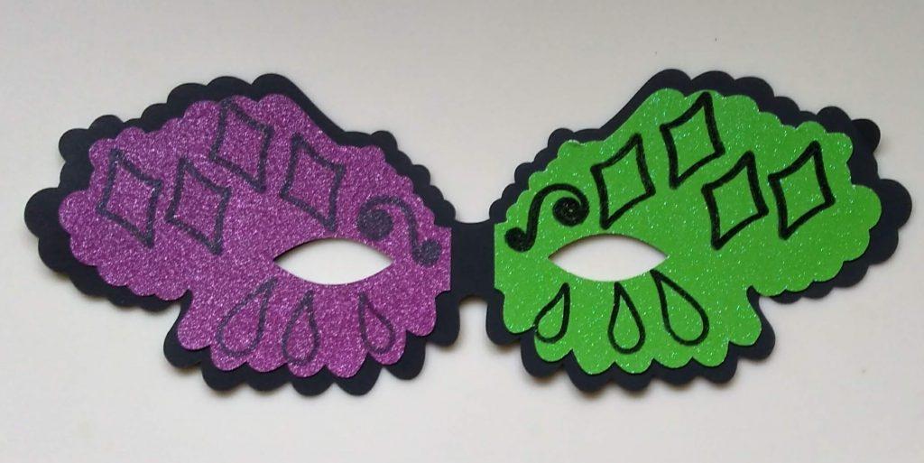 Mardi Gras Style Halloween Mask