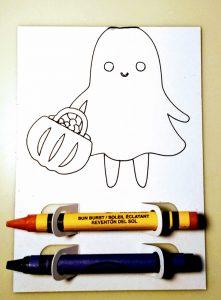 Ghost Halloween Coloring Treat