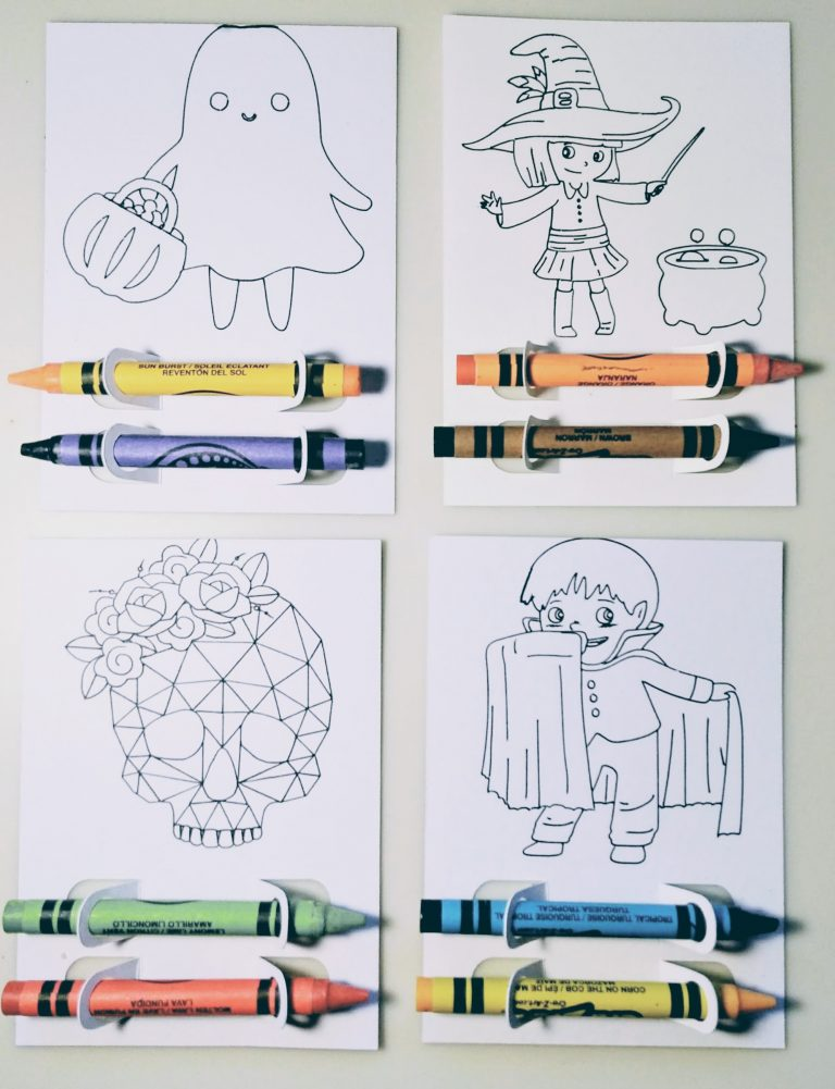 All Four Halloween Coloring Treats