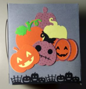 Pumpkin side of Halloween Tissue box cover