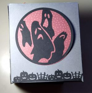 Side 1 of the Halloween Tissue Box Cover