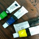 Acrylic paint not to use