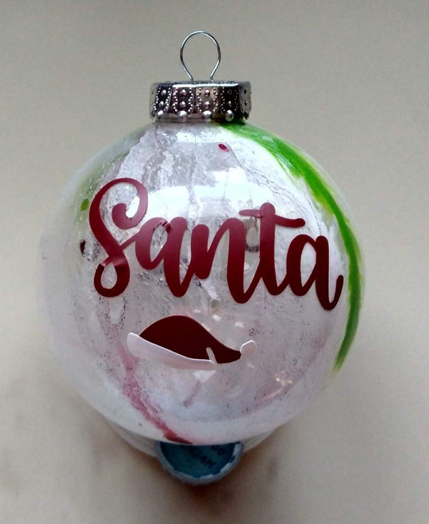 Big Santa Paint Ornaments