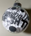 Snowball Fight Filled Bulb Ornament