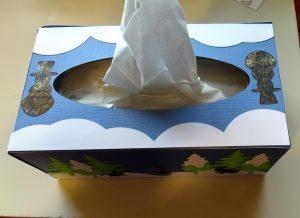 Winter Scene Tissue Box Top